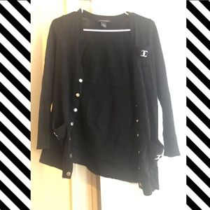 Black 3/4 length Cardigan White House Black Market
